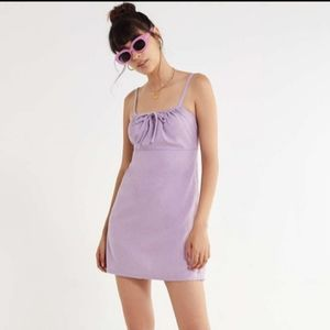 Urban Outfitters Lavender Linen Mini Dress L